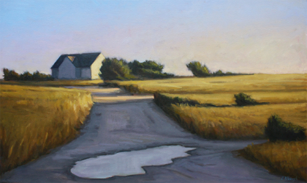 After the Rain, by Joan P. Albaugh oil painting, Nantucket